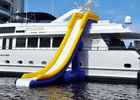 Inflatable Water Floating Games , Inflatable Slide For Yacht Sports