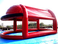 چین Red Colour UV Protected Kids Inflatable Pool with Tent for Sports Games کارخانه