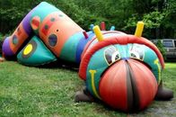 Inflatable bugsy the caterpillar tunnel maze for children games تامین کننده