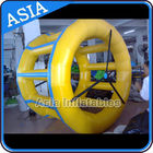 PVC Tarpaulin Inflatable Yellow Water Roller for Kids Pool Water Games تامین کننده