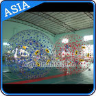 Color Dots Inflatable Zorb Ball , Grass Zorb Ball , Inflatable Human Hamster Ball Customized for Kids and Adults تامین کننده