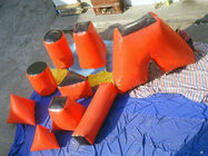 Red 0.6mm PVC Tarpaulin inflatable Paintball bunker for paintball sports تامین کننده