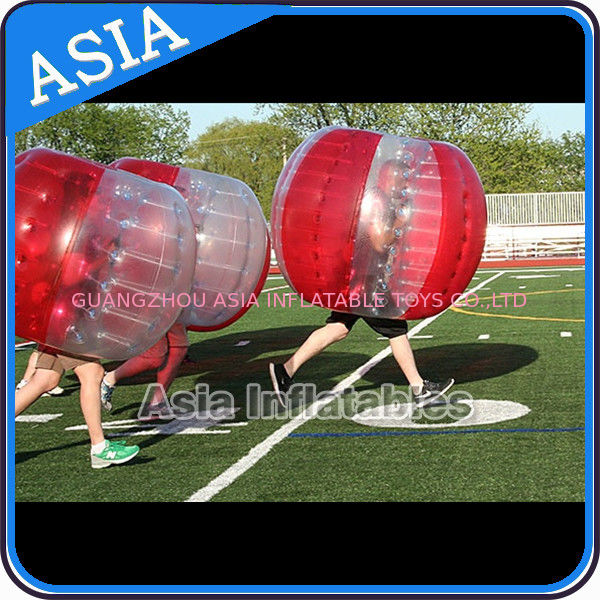 100% PVC Inflatable Bumper Ball ,  Half Red Bubble Soccer , Loopy Balls , Soccer Bubble Balls تامین کننده