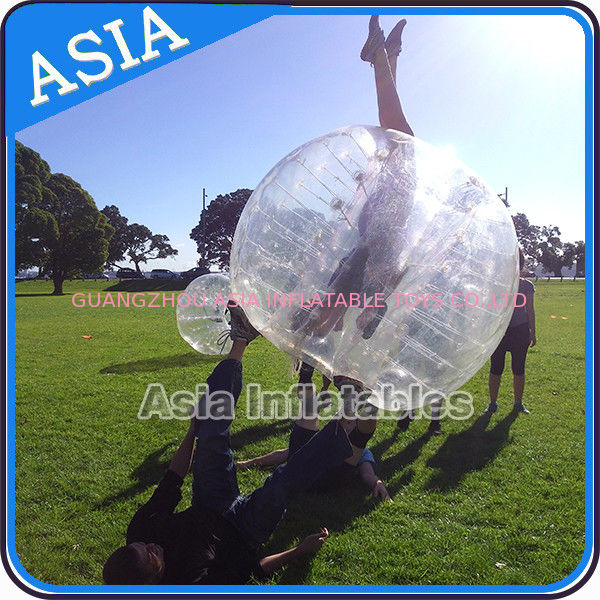 Colorful dot inflatable human bubble soccer , Body zorbing ball , Outdoor loopyball تامین کننده