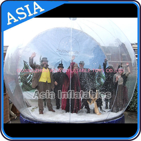 Airblown Yard Inflatable Bubble Tent Decoration , Inflatable Christmas Snow Globe تامین کننده