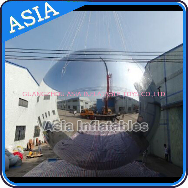 Silver Customized 8m Advertising Inflatable Commercial Mirror Balloon تامین کننده