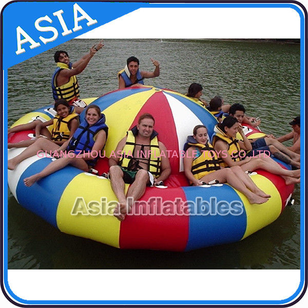 Fireproof 3m Inflatable Disco Boat With 8 Seats Pvc Inflatable Water Games تامین کننده