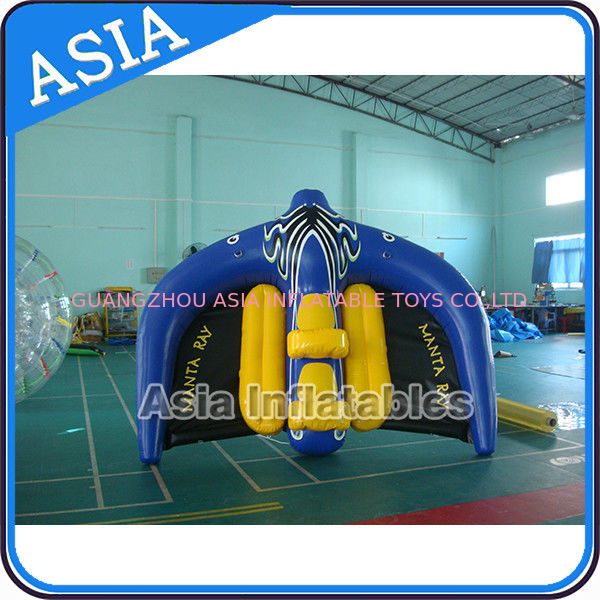 0.9mm PVC Tarpaulin Inflatable Flying Manta Ray / Fly Fish Inflatable Water Parks تامین کننده
