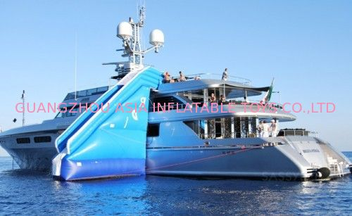 Inflatable Water Floating Yacht Slide, Inflatable Water Sliding Sports تامین کننده
