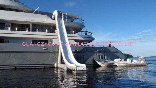 Customized Water Slide Inflatable Water Sports on yacht 0.90mm Pvc Tarpaulin تامین کننده