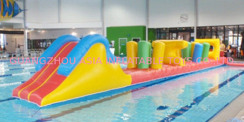 Indoor Swimming Pool Games, Inflatable Obstacle Course For Sale تامین کننده