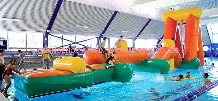 Inflatable Aqua Challenging Sports, Inflatable Water Floating Obstacles تامین کننده