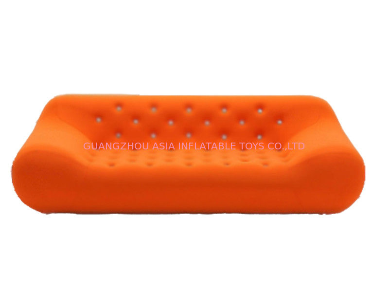 Home Chesterfield Orange Inflatable Sofa For Watching Tv تامین کننده