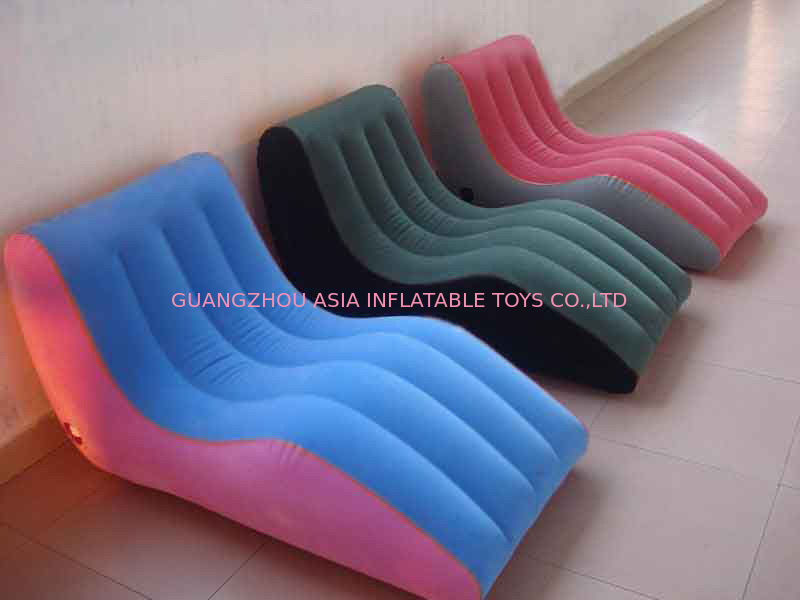 Modern Portable Inflatable Chesterfield Sofa , Inflatable Colorful Furniture تامین کننده