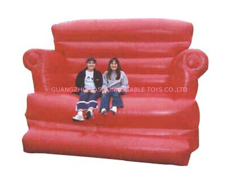 Large Red Design Advertising Inflatable Sofa Furniture , Inflatable Couch Furniture تامین کننده