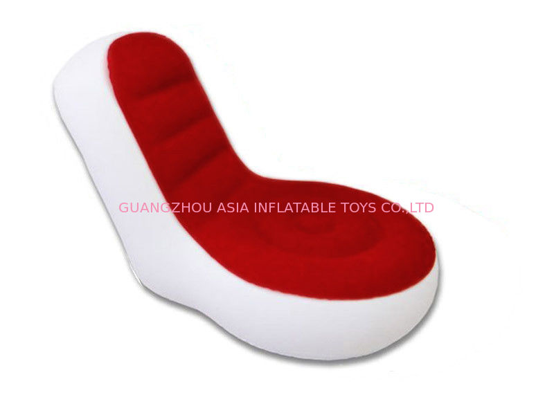 Light Weight 0.6mm Pvc Tarpaulin  Inflatable Chair Sofa With Red And White Color تامین کننده