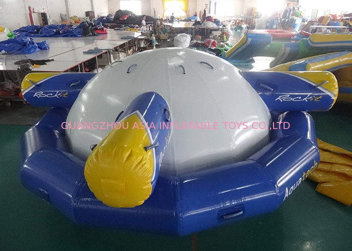 Inflatable Floating , Spinning Planet Saturn For Water Sports تامین کننده