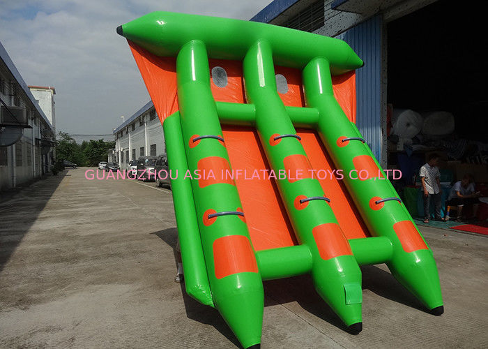 4-6 Passangers InflatableTowable Sport Games/ Fly Fishing Boat Fish Raft Boat تامین کننده