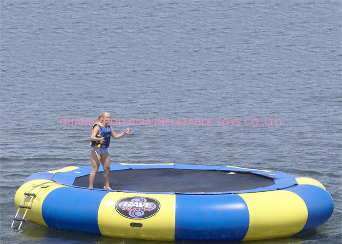 15' Rave aqua jump eclipse, water trampoline , inflatable jumping trampoline تامین کننده