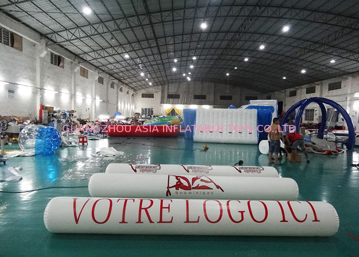 Inflatable Promoting Strip Buoy For Ocean Or Lake Advertising , Inflatable tube buoys تامین کننده
