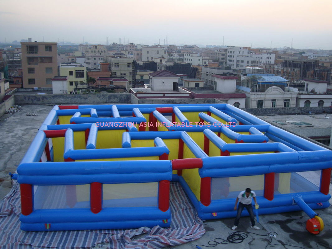 Square Interactive Maze Games, Inflatable Labyrinth Games For Sale تامین کننده