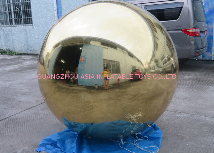 Inflatable Gold Mirror Balloon With Reflection Effect For Decoration On The Floor تامین کننده