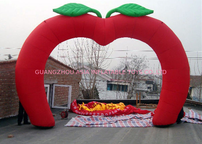 Custom New Design Welcome Gate Inflatable Arch, Inflatable Red Apple Archway تامین کننده