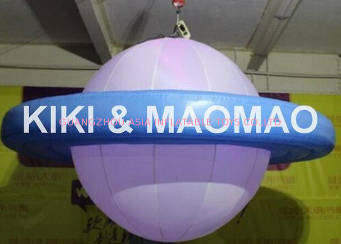 Inflatable UFO Saturn Helium Balloon , Custom PVC Advertising Character Balloon تامین کننده