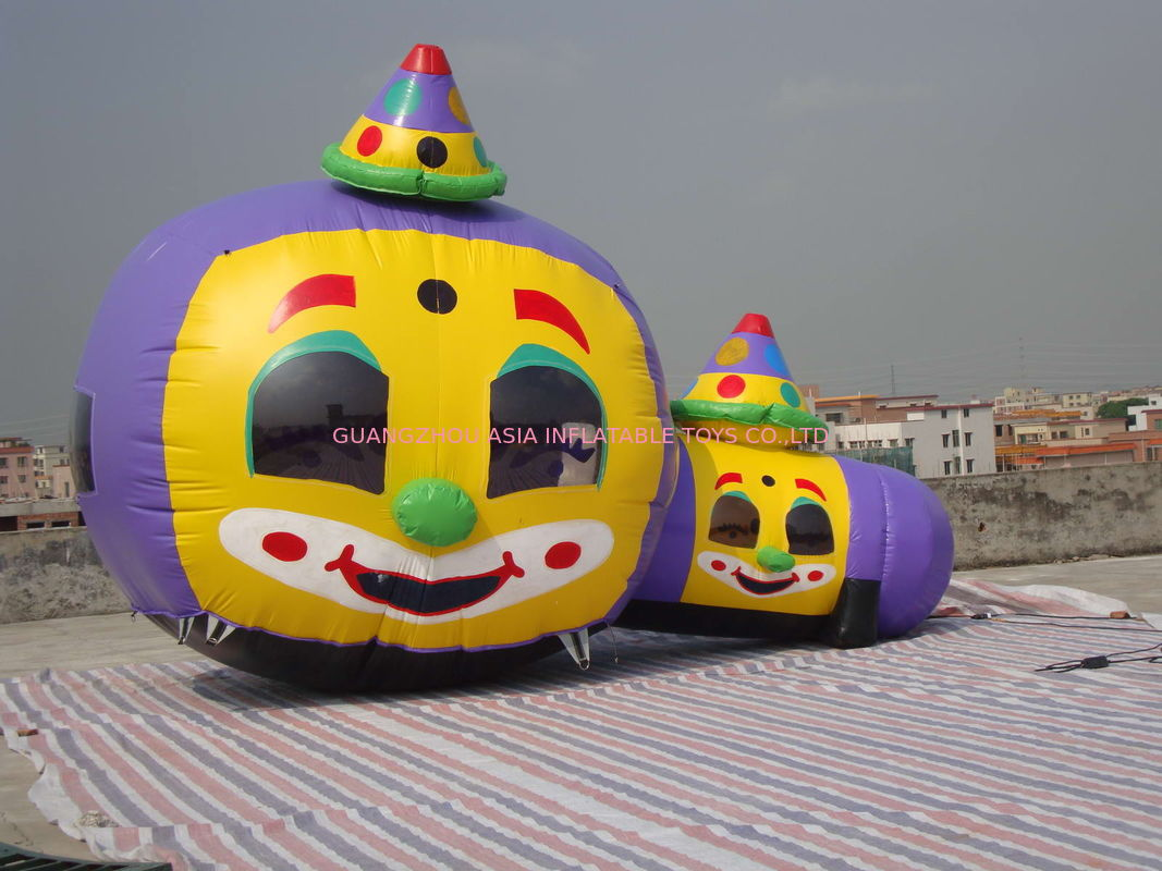 Customized Inflatable Tunnel Maze / Pumpkin-Shaped Tunnel Games تامین کننده