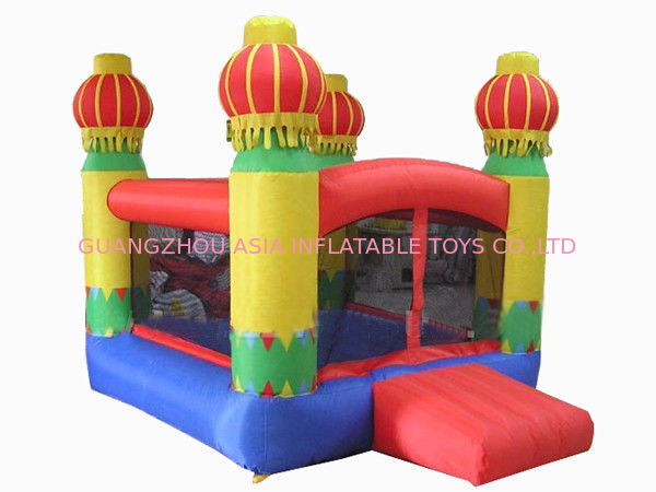 Inflatable Amusement Park Mini Bouncer With Four Lanterns , New Design تامین کننده