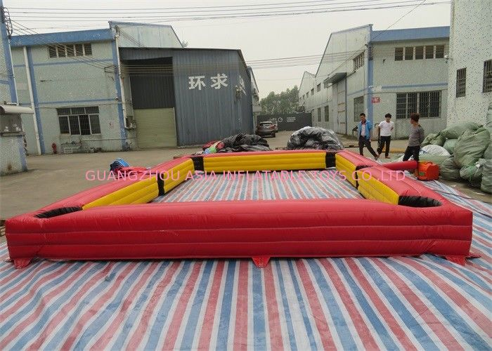 Simple Inflatable Sports Games Inflatable Billiards And Soccer Football Games تامین کننده