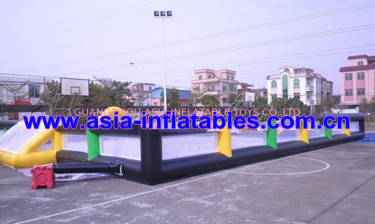 Portable Large Inflatable Soccer Pitch For Commercial Use , Inflatable Soccer Field تامین کننده