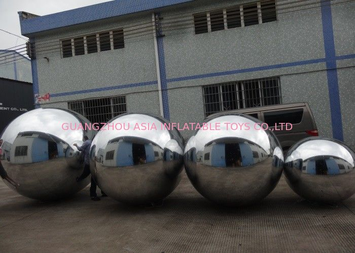 Advertising Mirror Helium Balloon And Silver Mirror Ball Inflatable For Party تامین کننده