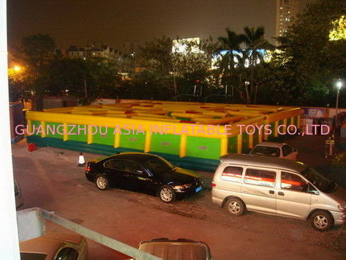Inflatable Maze Games For Playground , Inflatable Interactive Labyrinth Games تامین کننده