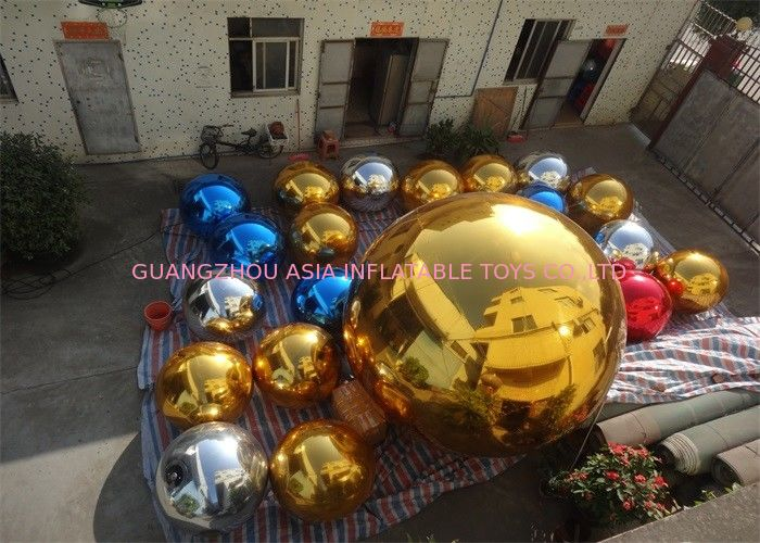 Inflatable Colorful Mirror Balloon Event Use Inflatable Ground Mirror Ball تامین کننده