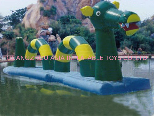 Giant Green Dragon Obstacle Course, Inflatable Water Challenge sports تامین کننده