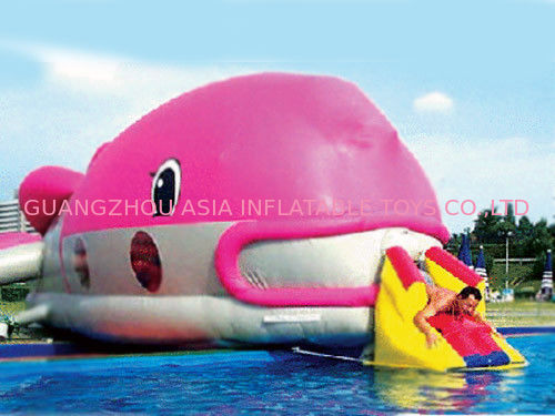 Water Floating Games, Inflatable Obstacle Course In Pink Whale Model تامین کننده