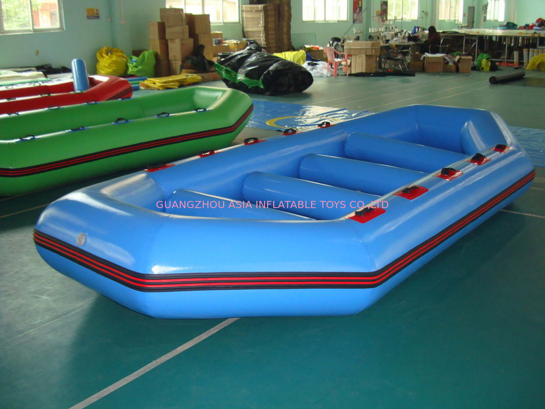 3.2m Long PVC tarpaulin Blue Color Inflatable Boat for 8 Persons تامین کننده
