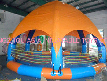 Family Size Kids Inflatable Pools With Tent Cover تامین کننده