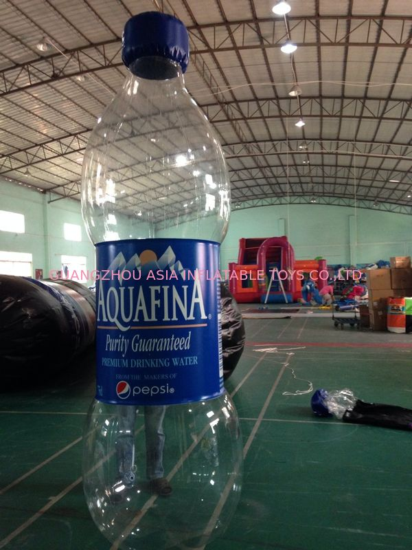 Commercial  Inflatable Advertising Water Bottle For Business Rental تامین کننده