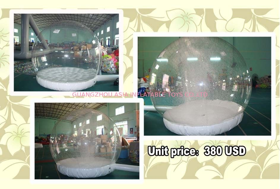 Customize EN71 Inflatable Snow Globe with Snow Machine تامین کننده