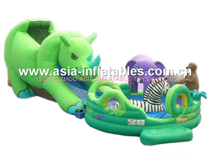 Outdoor Inflatable Funland / Inflatable Intellectual Game For Children Amusement