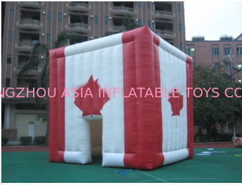 giant inflatable cube tent inflatable canada maple leaves tent تامین کننده