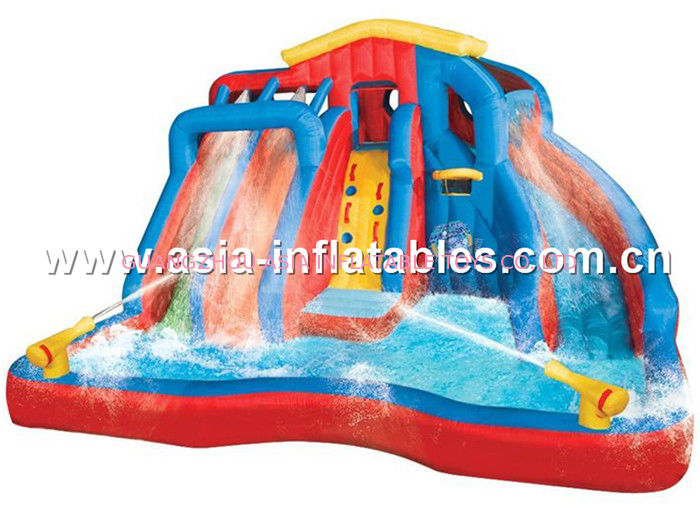 Inflatable slide with water تامین کننده