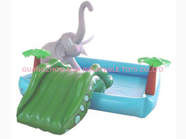 Small Water Park Kids Inflatable Pool with Animal for Backyard Play تامین کننده