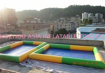 Colored Rectangular Kids Inflatable Pool for Water Park Games Using تامین کننده