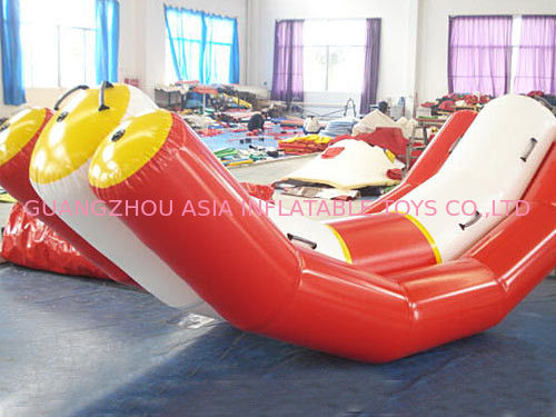 Durable Red And White Water Seesaw Inflatable Water Games For 4 People