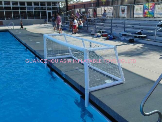 Pure White PVC Inflatable Water Sports , Pool Floating Water Polo Goals تامین کننده