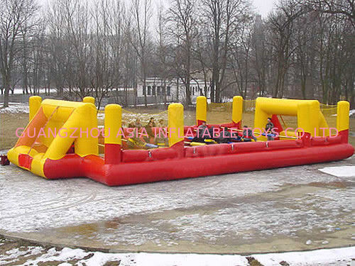 Ce Inflatable Soccer Arena Court For Outside Use , Inflatable Soccer Field For Outside تامین کننده