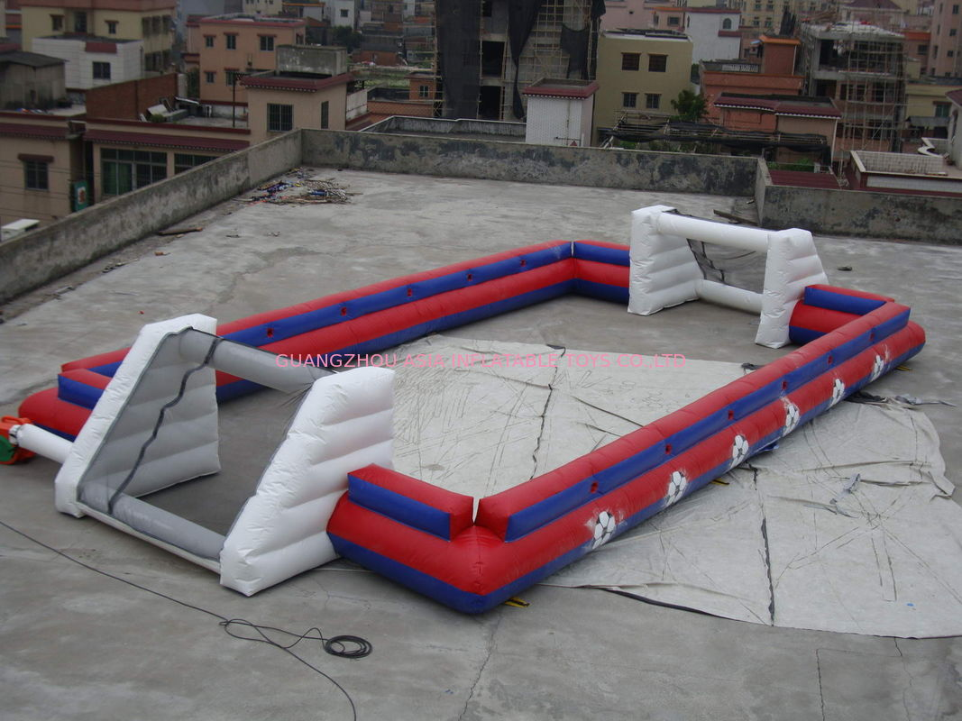 China Supplier Inflatable Sports Football Pitch Without Floor Sheet , Inflatable Soccer Field تامین کننده